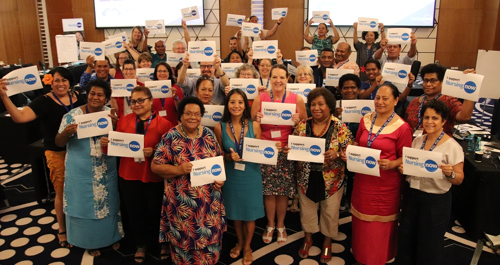 Heads of Nursing from Pacific Island Countries and territories during the inaugural Pacific Heads of Nurses Meeting held in February 2020.